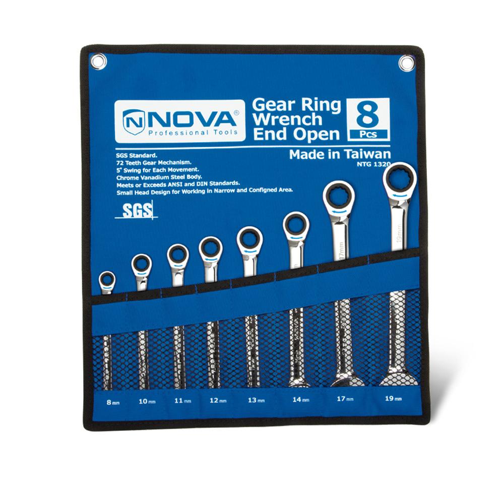 آچار جغجغه کیفی 8 عددی نووا مدل NTG-1320