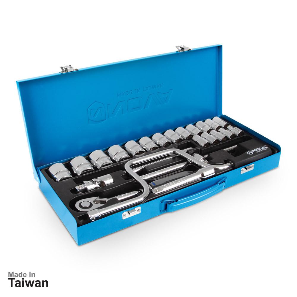 جعبه بکس 1/2 اینچ، 24 پارچه نووا مدل NTS-7001