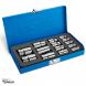 جعبه بکس 1/2، 3/8 و 1/4 اینچ، 14 پارچه E نووا مدل NTS-7025