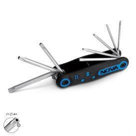 آلن چاقویی صنعتی ستارهای (سوراخدار) 8 عددی نووا مدل NTK-1140