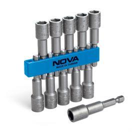 بکس شیروانی 10 تایی 1/4 اینچ نووا مدل NTS-9204