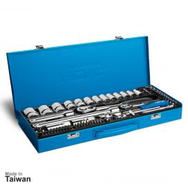 جعبه بکس 1/2 و 1/4 اینچ، 60 پارچه نووا مدل NTS-7016