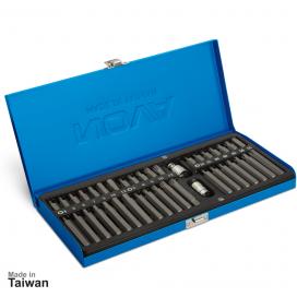 جعبه بیت 1/2 و 3/8 اینچ، 40 پارچه آلنی ستارهای و شش گوش نووا مدل NTS-7012