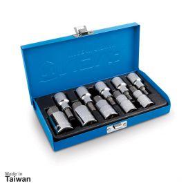 جعبه بکس 1/2 اینچ، 10 پارچه آلنی شش گوش نووا مدل NTS-7004
