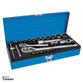 جعبه بکس 1/2 و 1/4 اینچ، 27 پارچه نووا مدل NTS-7014