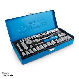 جعبه بکس 1/4 و 3/8 اینچ، 40 پارچه نووا مدل NTS-7002